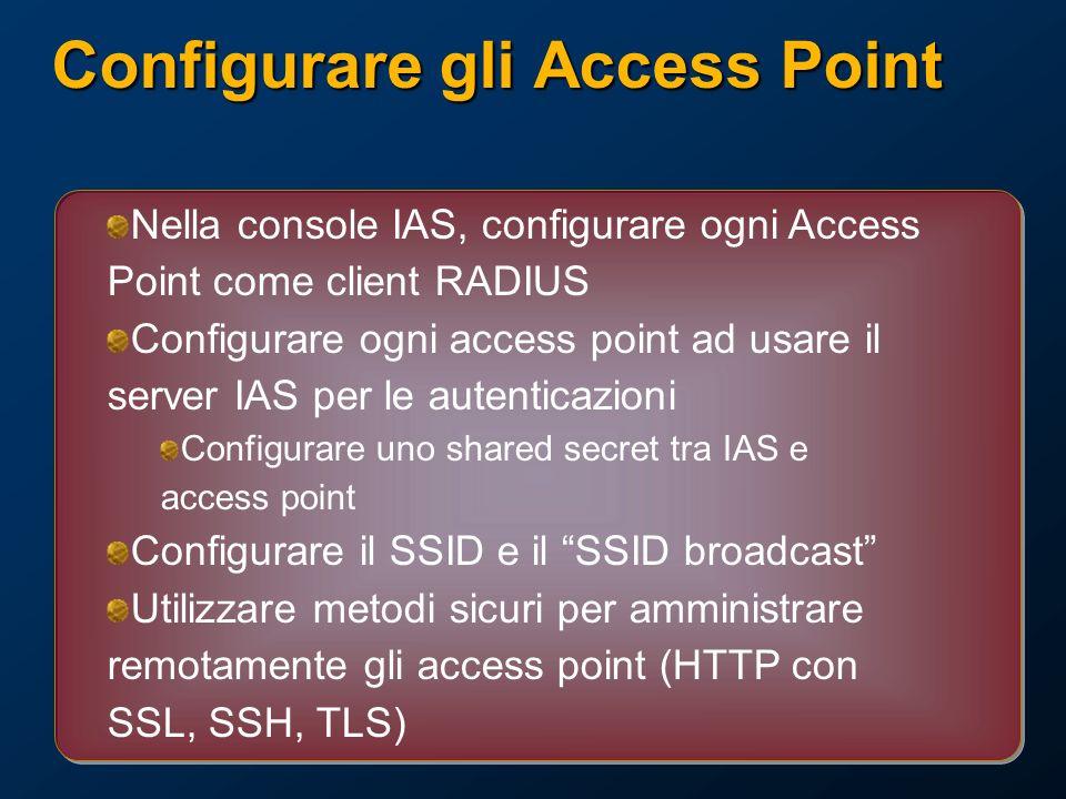 Configurare gli Access Point