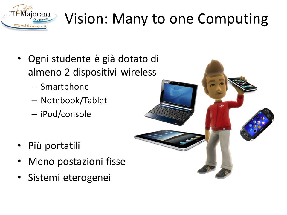 Vision: Many to one Computing