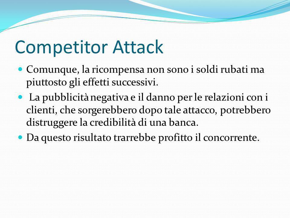 Competitor Attack Comunque, la ricompensa non sono i soldi rubati ma piuttosto gli effetti successivi.