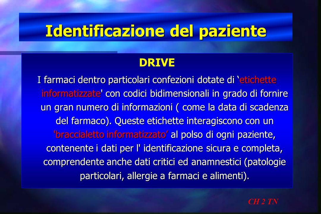 Identificazione del paziente