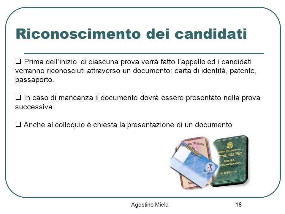 Riconoscimento dei candidati