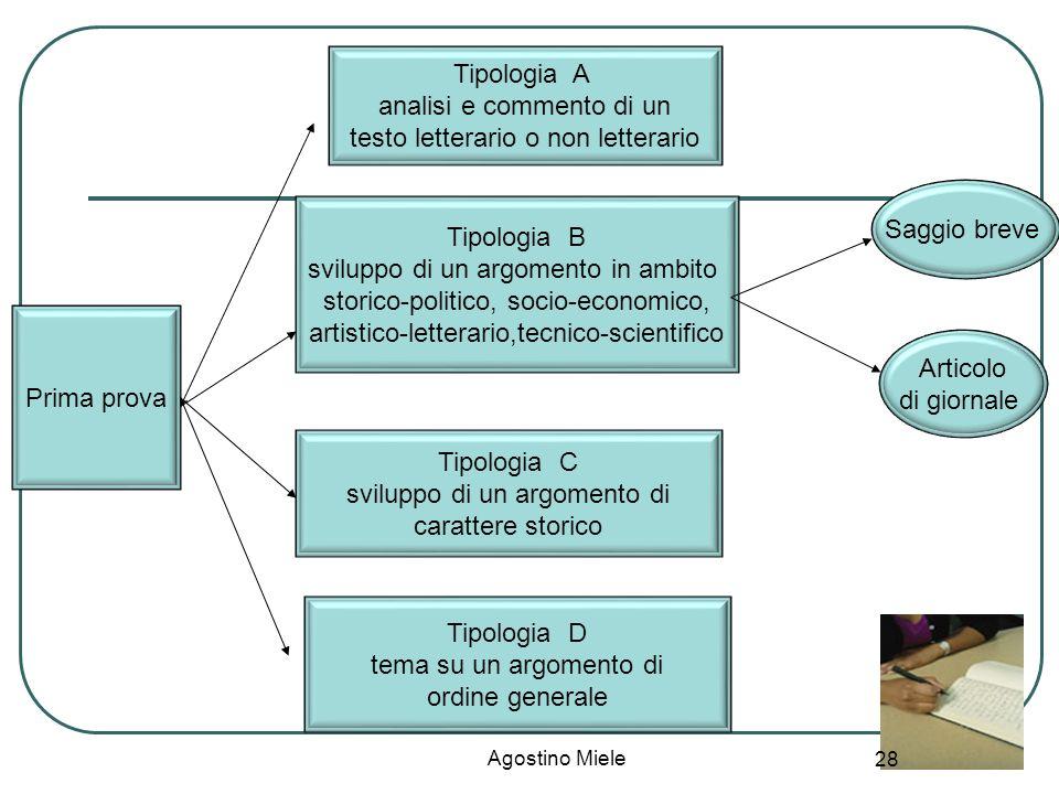 analisi e commento di un testo letterario o non letterario