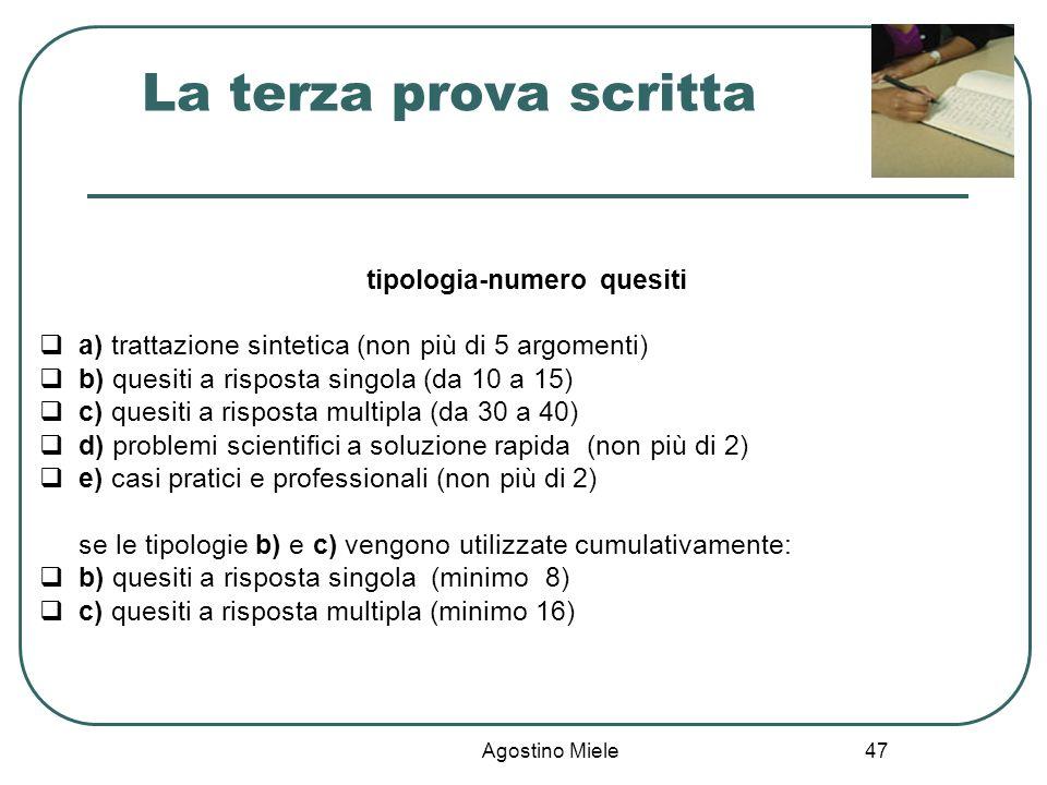 tipologia-numero quesiti