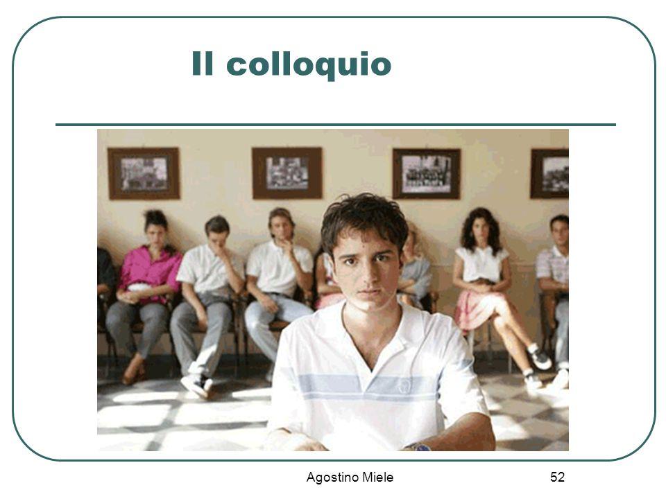 Il colloquio Agostino Miele