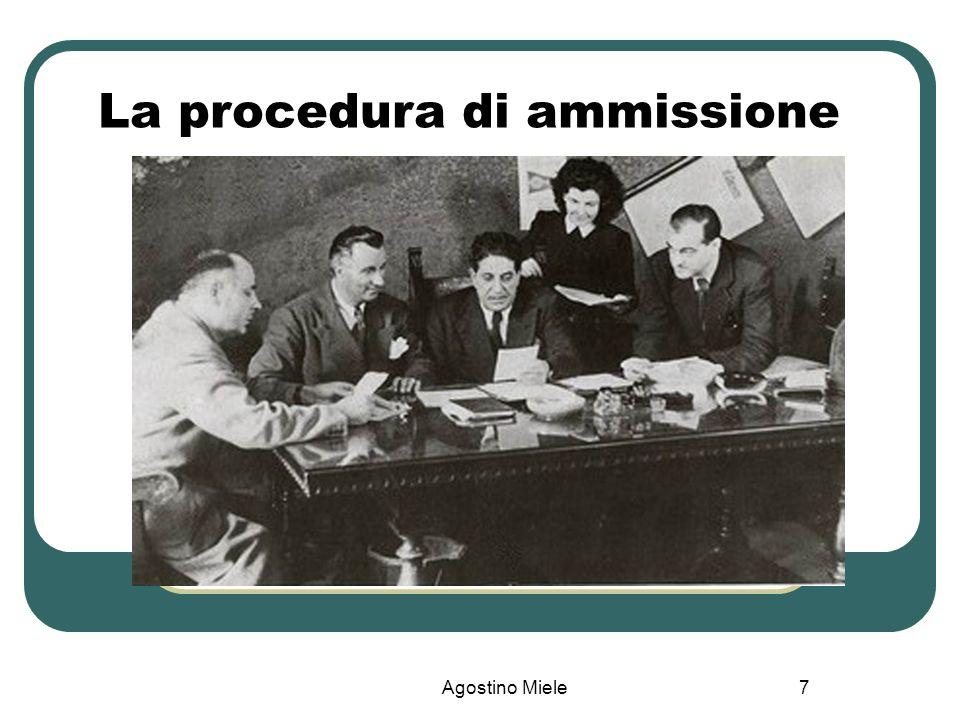 La procedura di ammissione