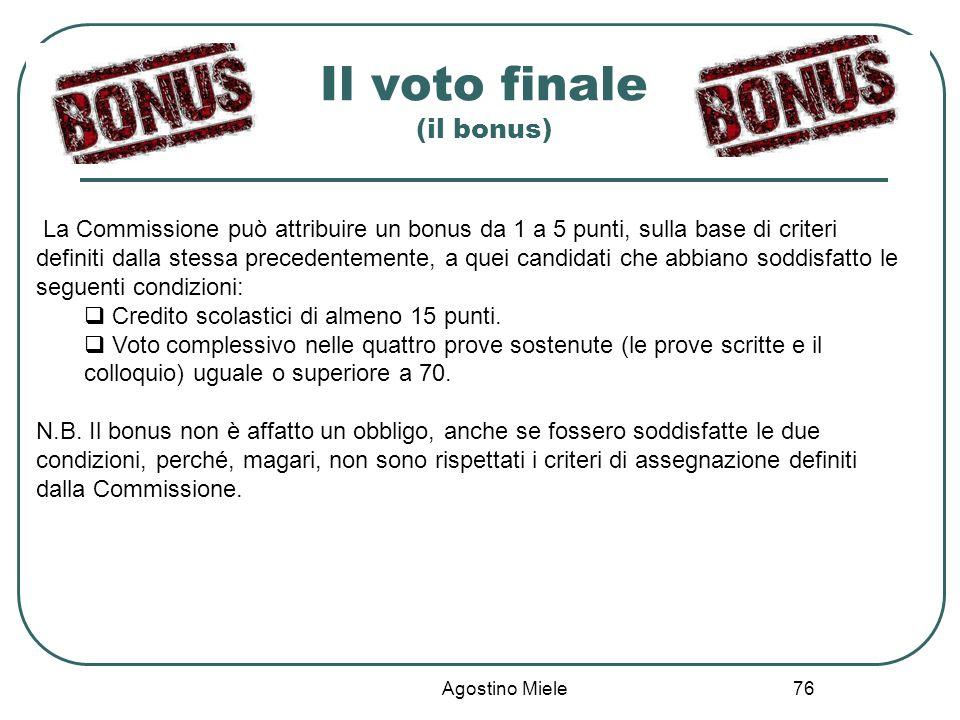 Il voto finale (il bonus)