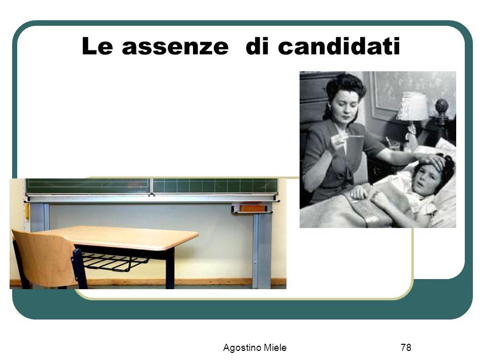Le assenze di candidati