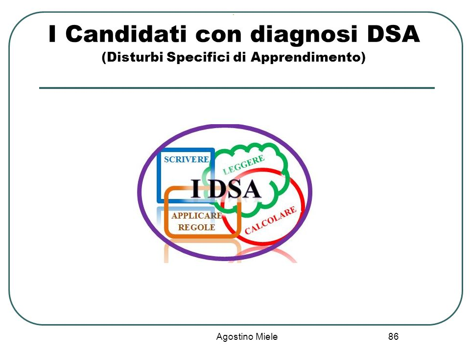 I Candidati con diagnosi DSA