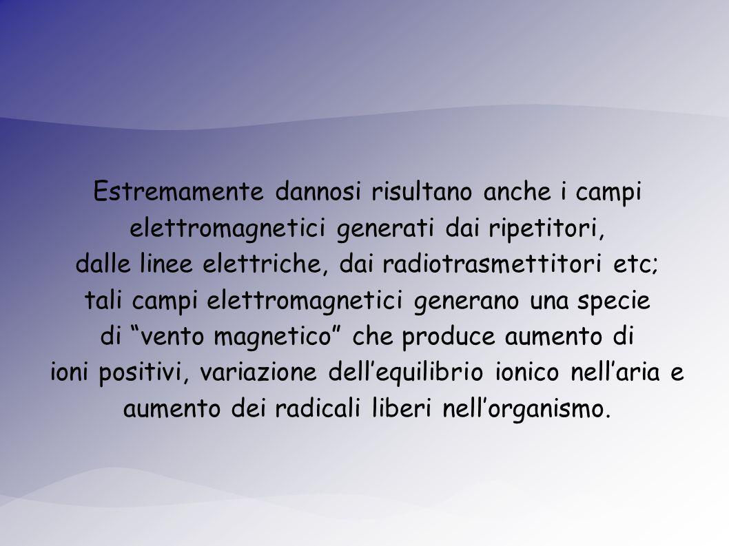 dalle linee elettriche, dai radiotrasmettitori etc;