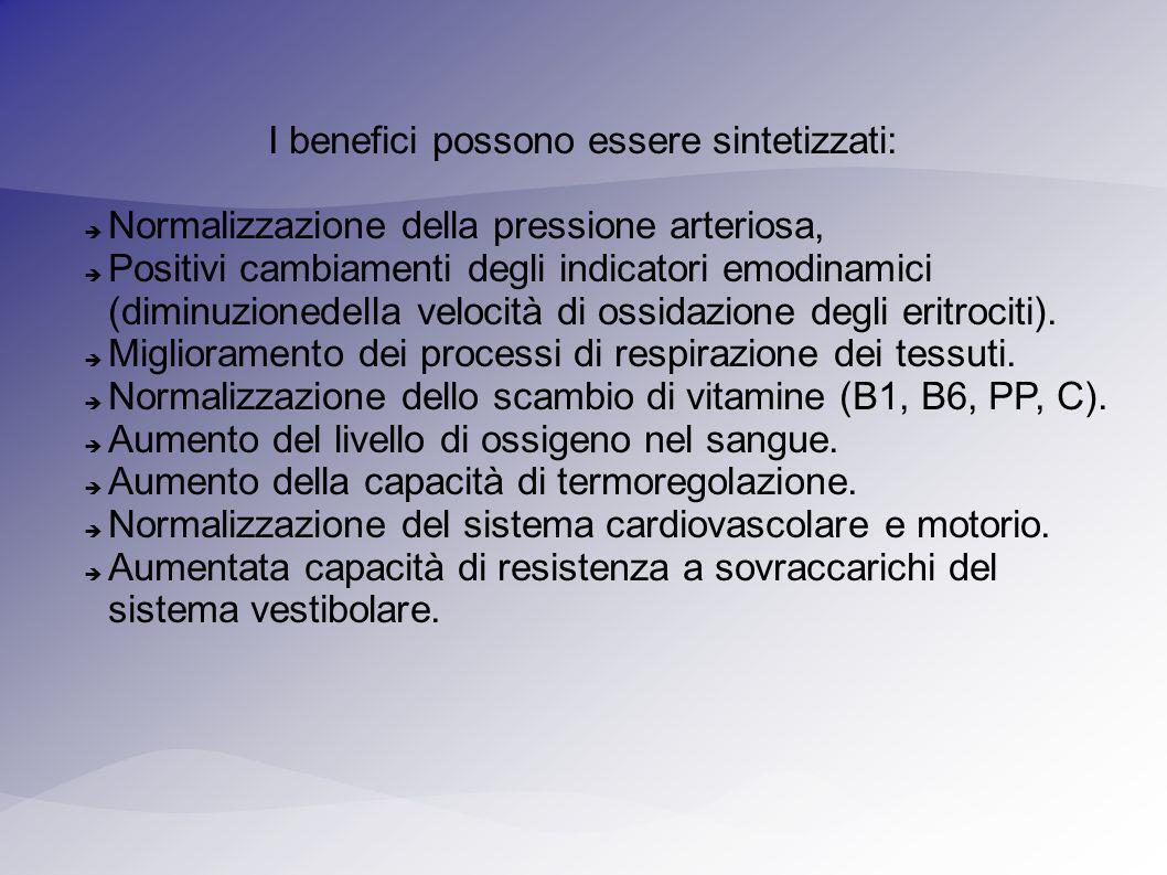 I benefici possono essere sintetizzati:
