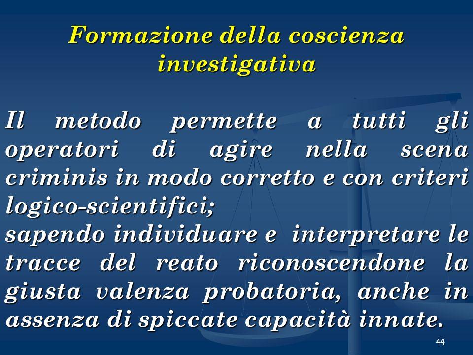 Formazione della coscienza investigativa