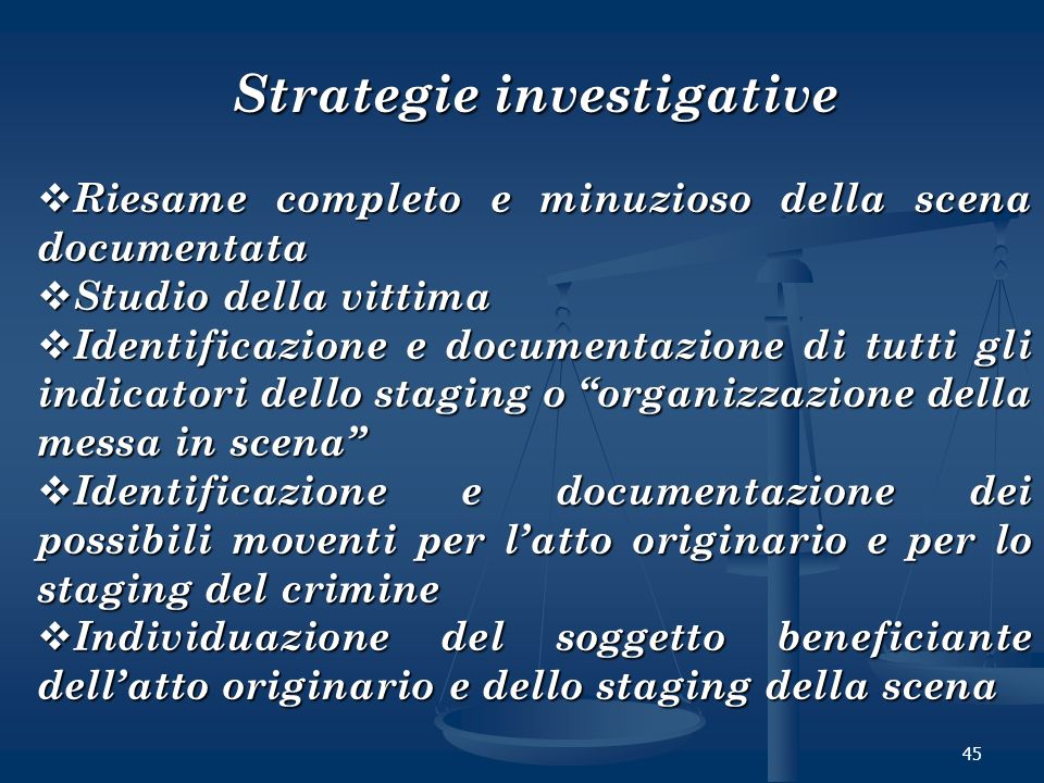 Strategie investigative