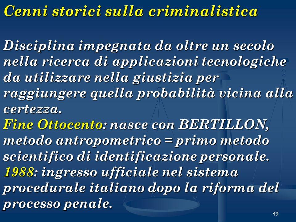 Cenni storici sulla criminalistica