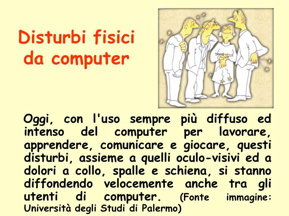 Disturbi fisici da computer