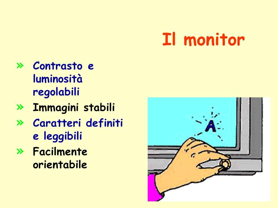 Il monitor Contrasto e luminosità regolabili Immagini stabili
