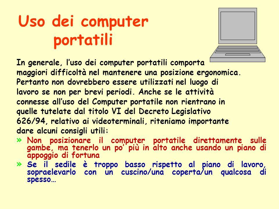 Uso dei computer portatili