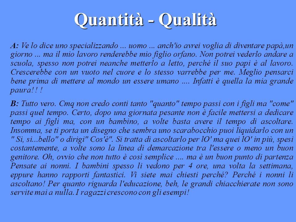 Quantità - Qualità