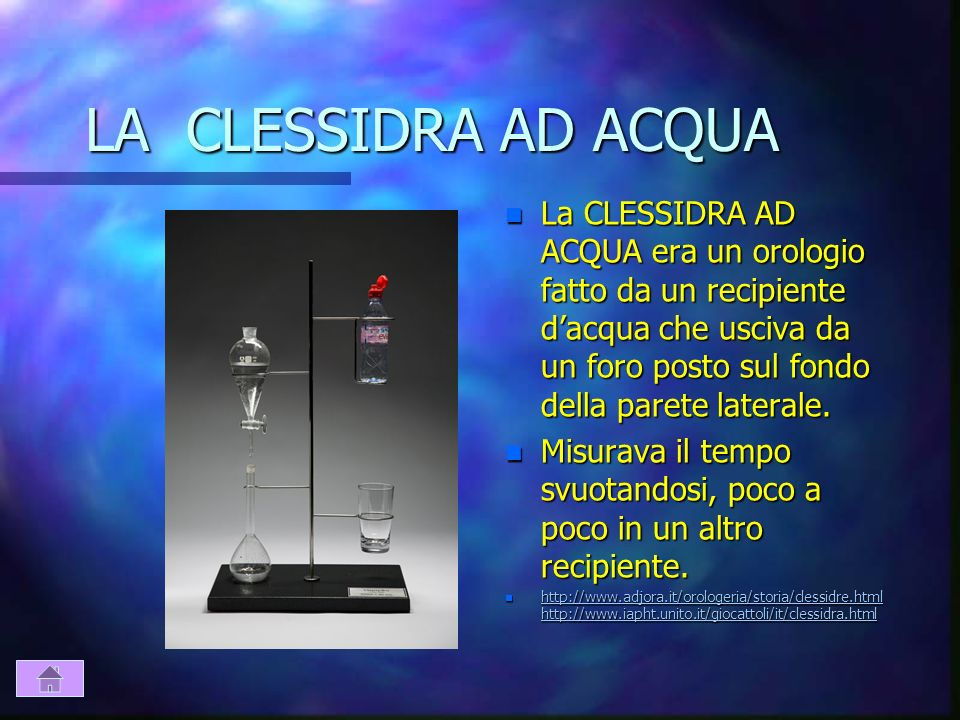 LA CLESSIDRA AD ACQUA