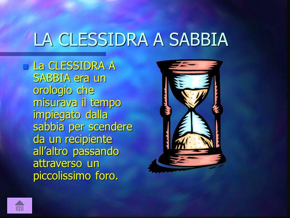 LA CLESSIDRA A SABBIA