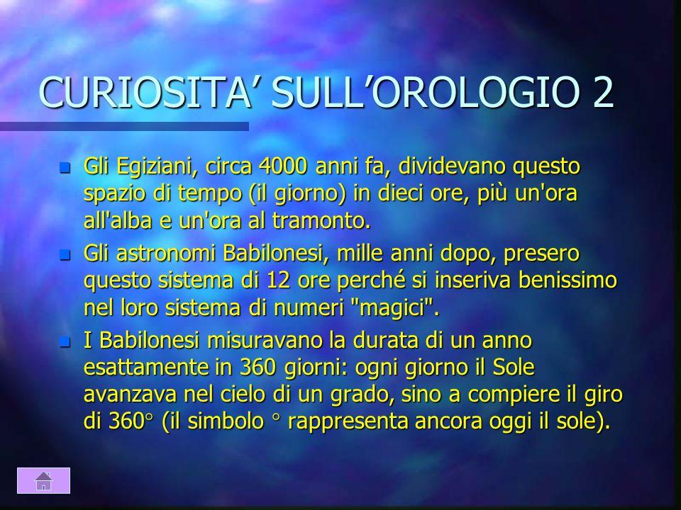 CURIOSITA' SULL'OROLOGIO 2