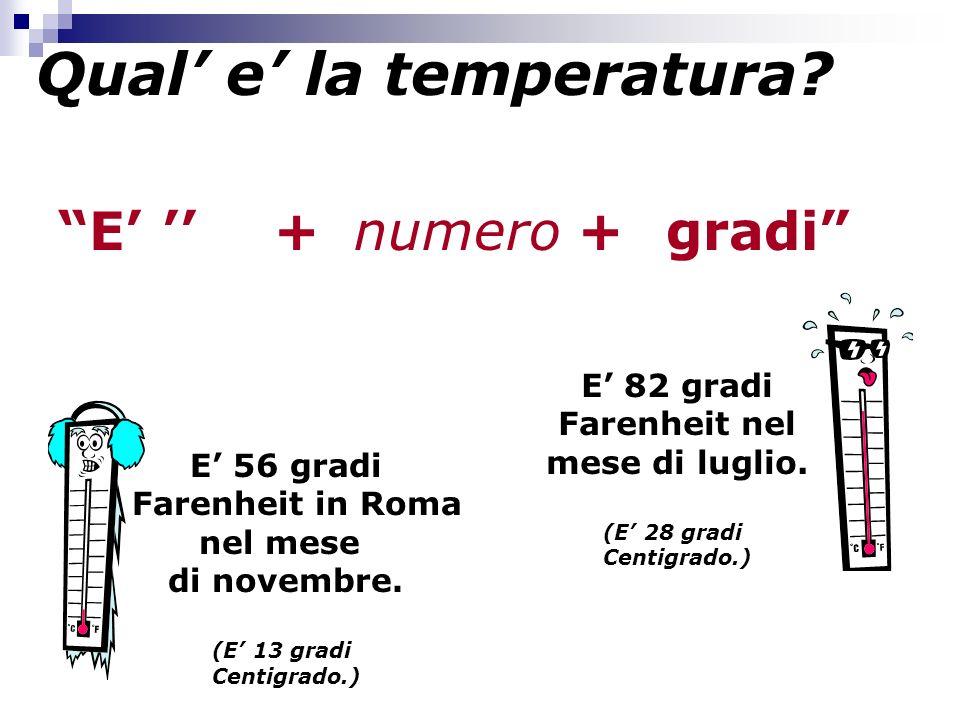 Qual' e' la temperatura