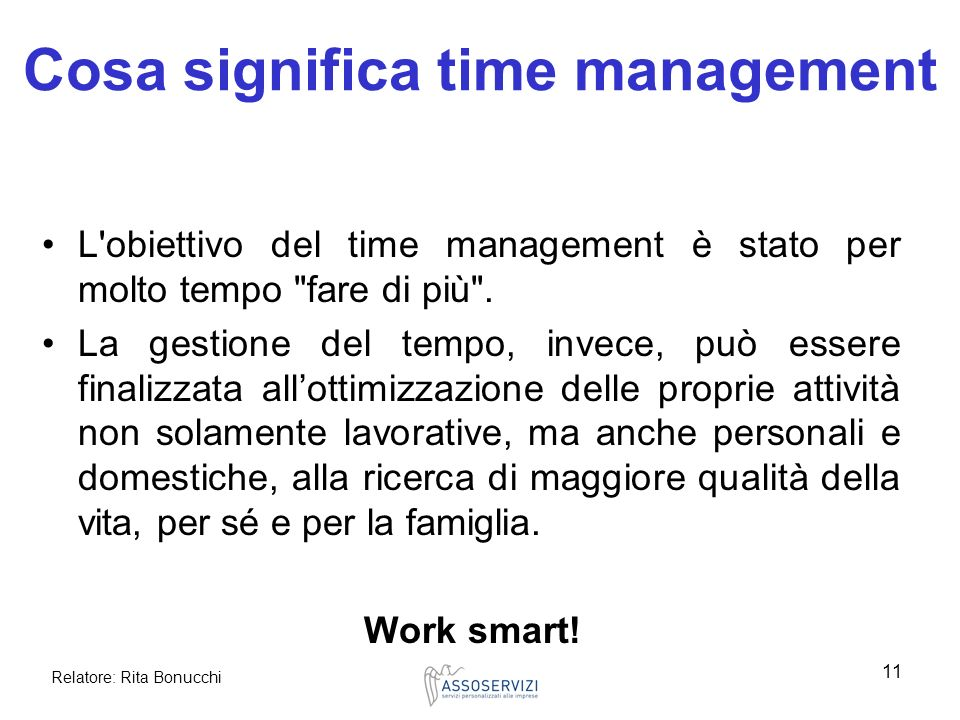 Cosa significa time management