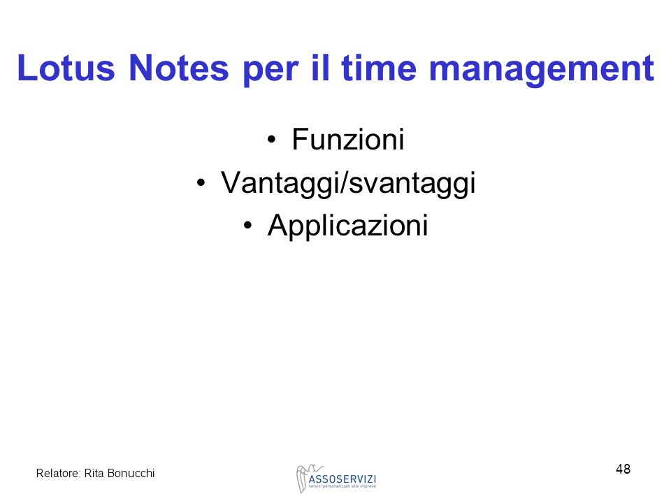 Lotus Notes per il time management