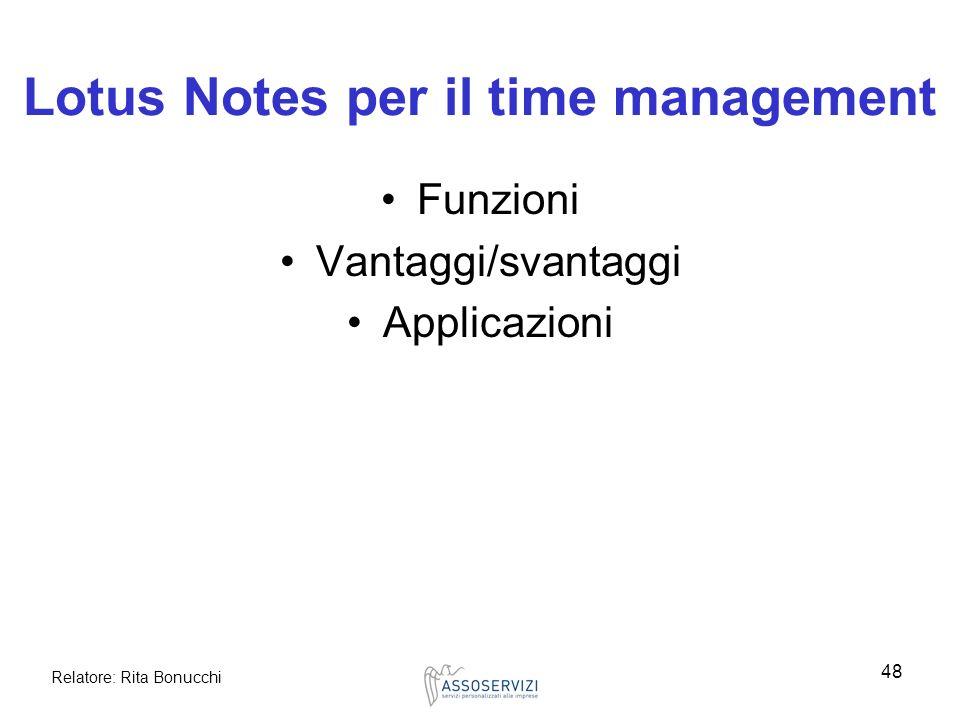 Lotus Notes per il time management