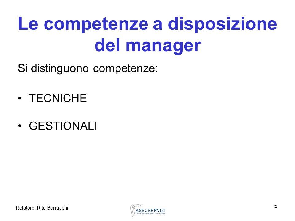 Le competenze a disposizione del manager