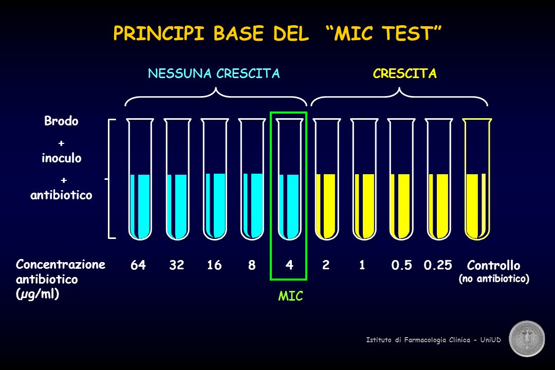 PRINCIPI BASE DEL MIC TEST