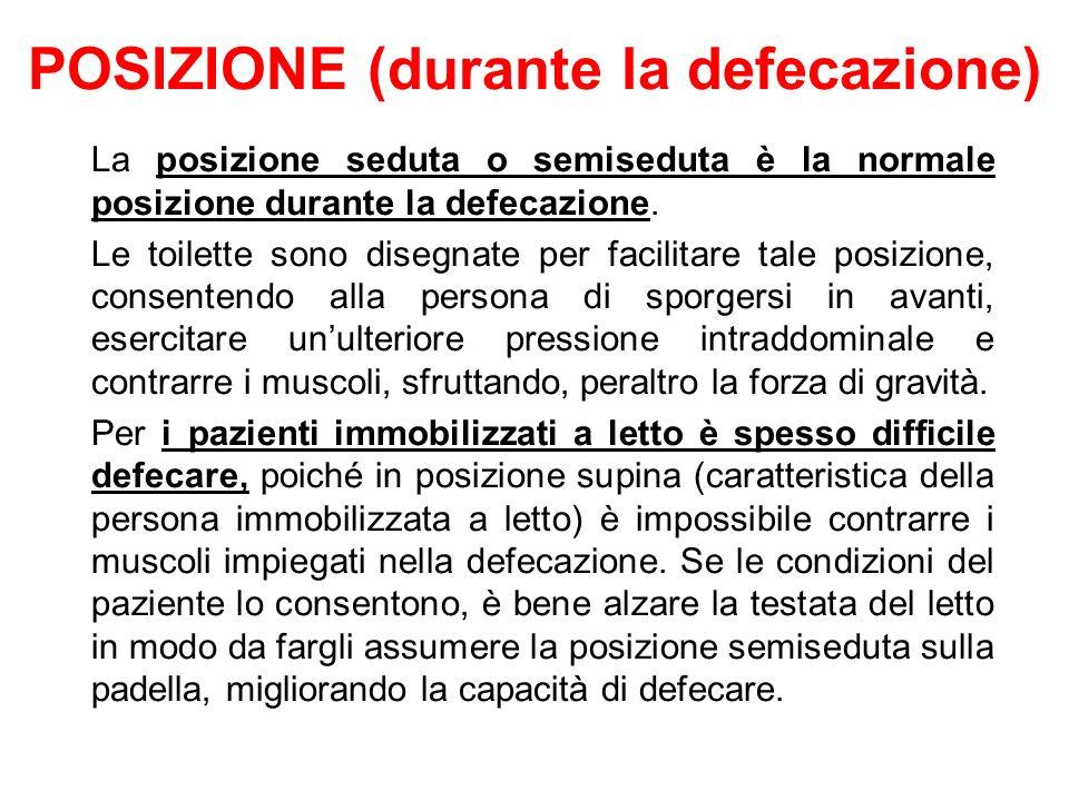 POSIZIONE (durante la defecazione)