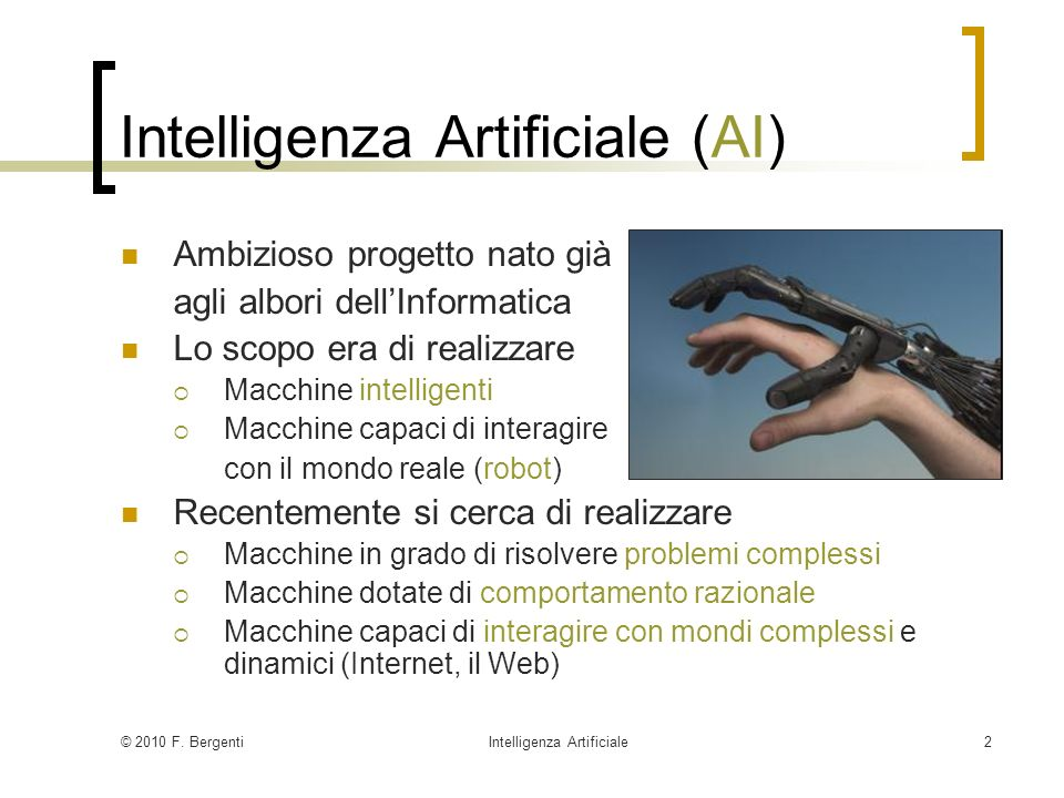 Intelligenza Artificiale (AI)