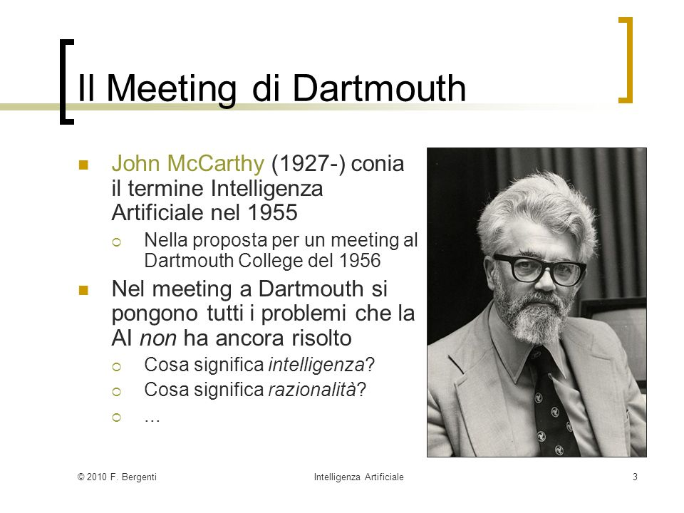 Il Meeting di Dartmouth