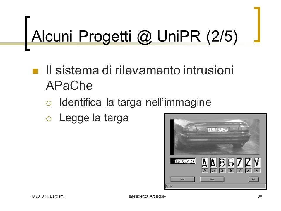 Alcuni Progetti @ UniPR (2/5)