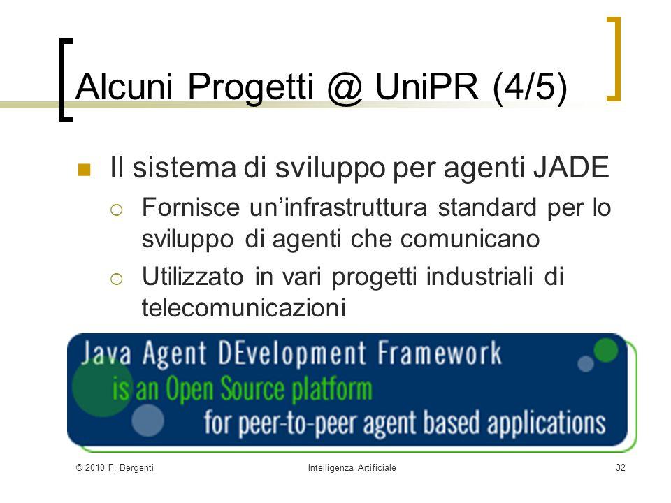 Alcuni Progetti @ UniPR (4/5)