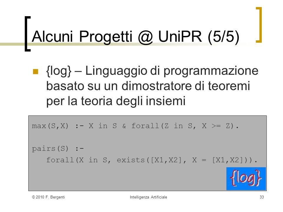 Alcuni Progetti @ UniPR (5/5)