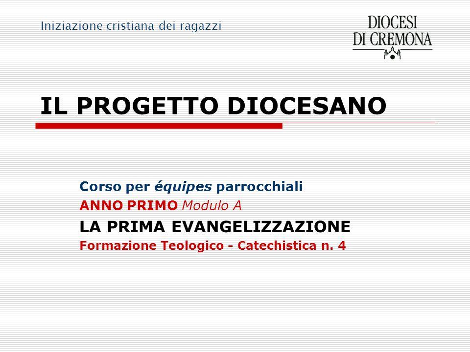 IL PROGETTO DIOCESANO LA PRIMA EVANGELIZZAZIONE