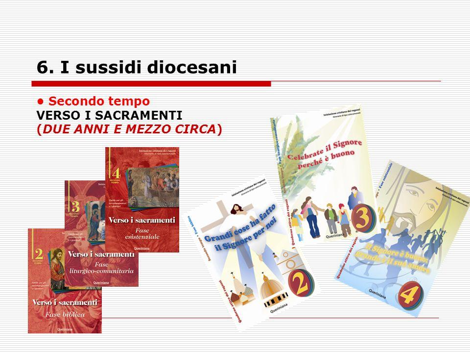6. I sussidi diocesani • Secondo tempo VERSO I SACRAMENTI