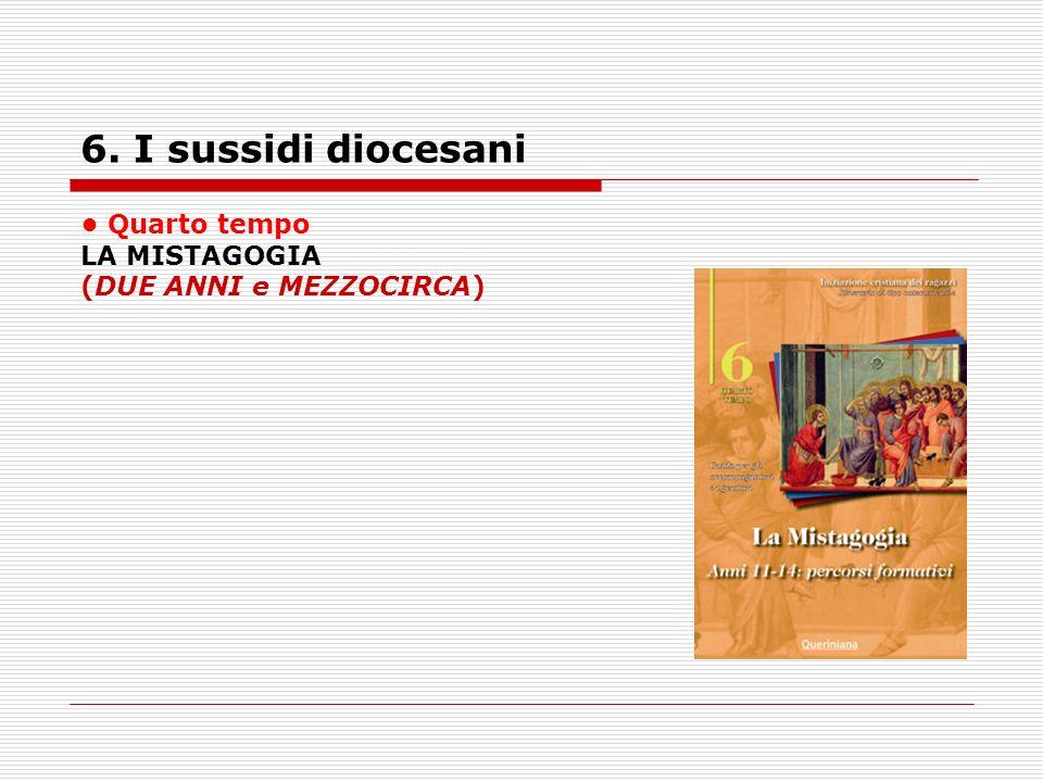 6. I sussidi diocesani • Quarto tempo LA MISTAGOGIA
