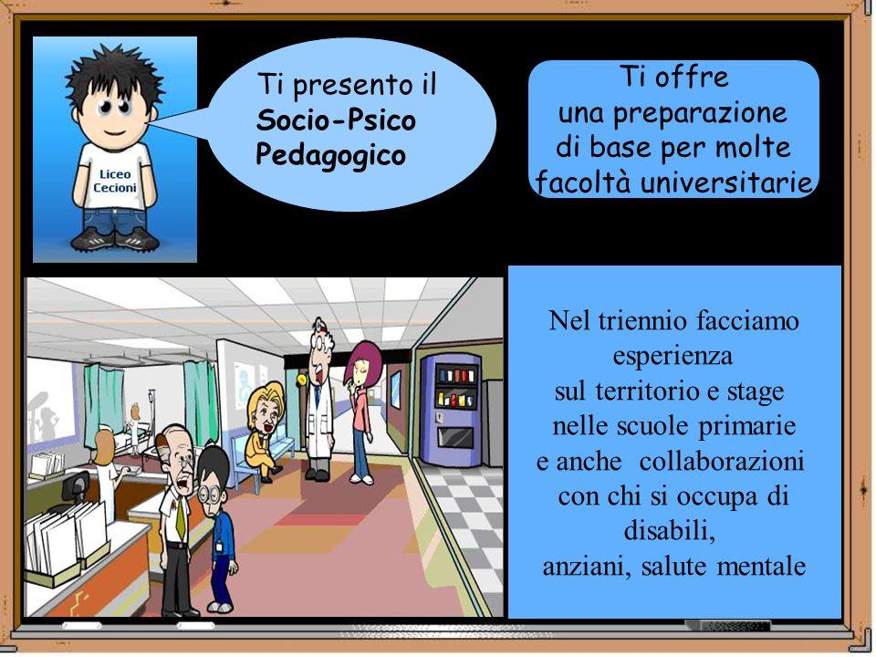 Socio-Psico Pedagogico Ti offre una preparazione di base per molte