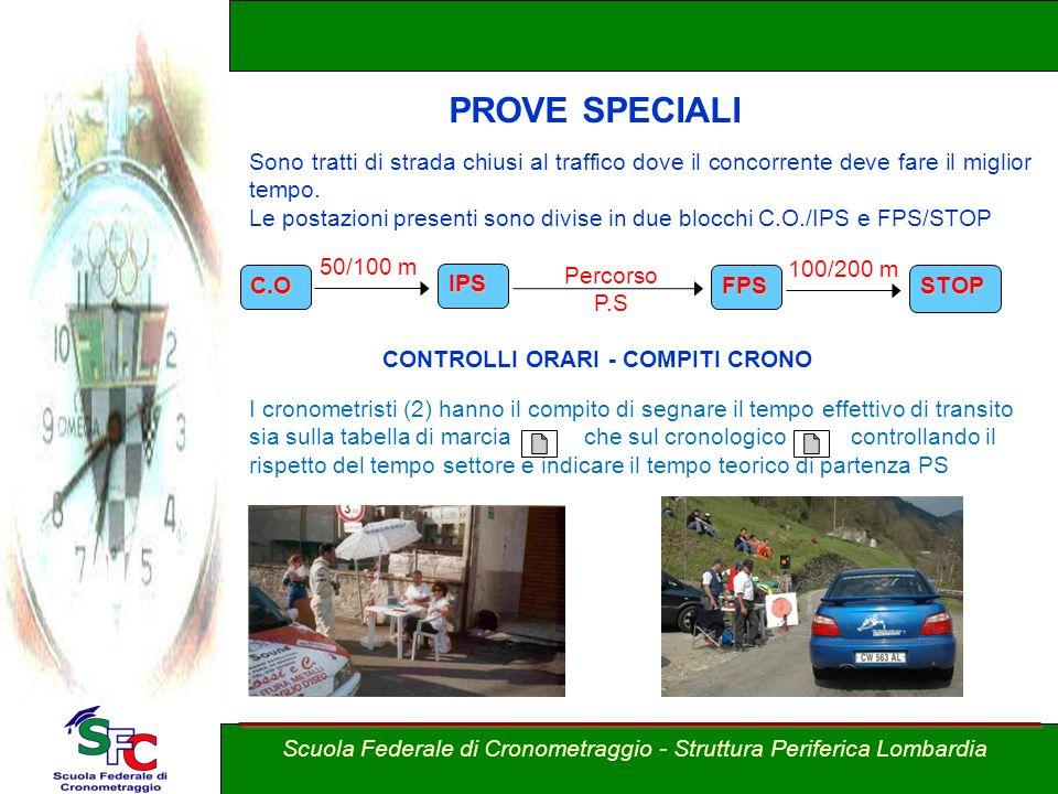 PROVE SPECIALI Corso allievi cronometristi – Brixia Crono Rally