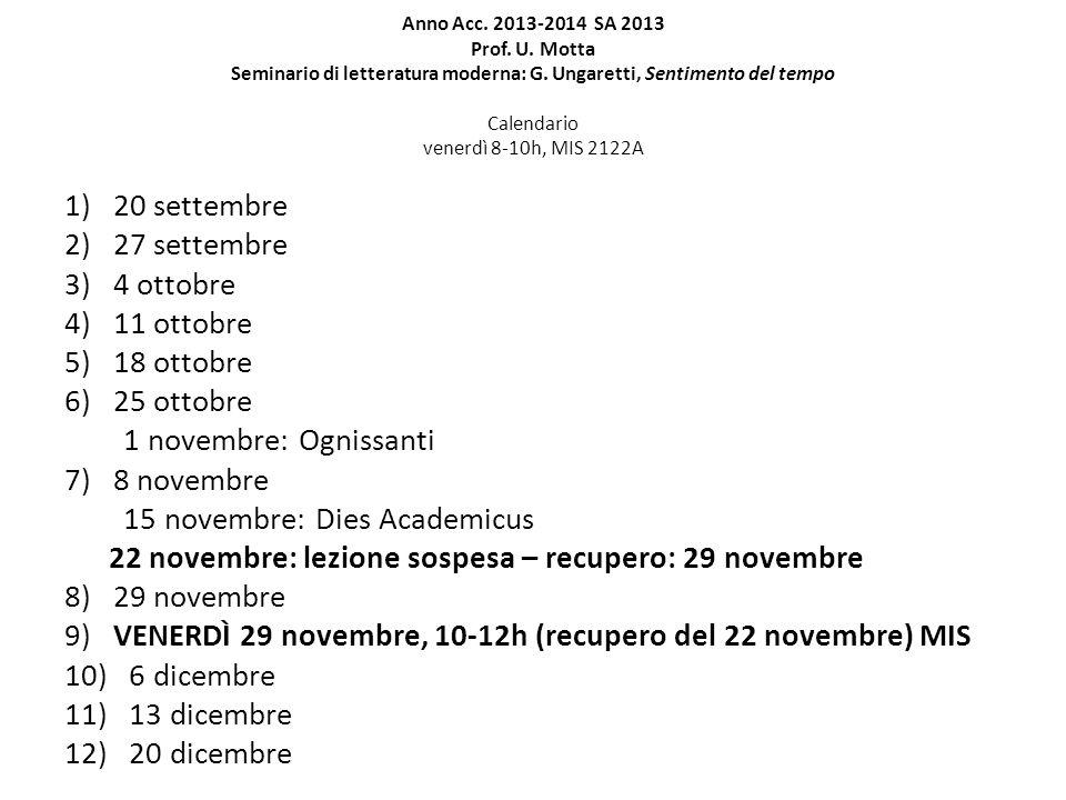 15 novembre: Dies Academicus