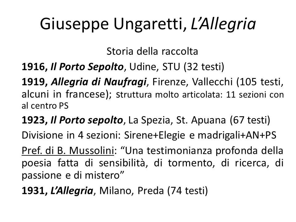 Giuseppe Ungaretti, L'Allegria