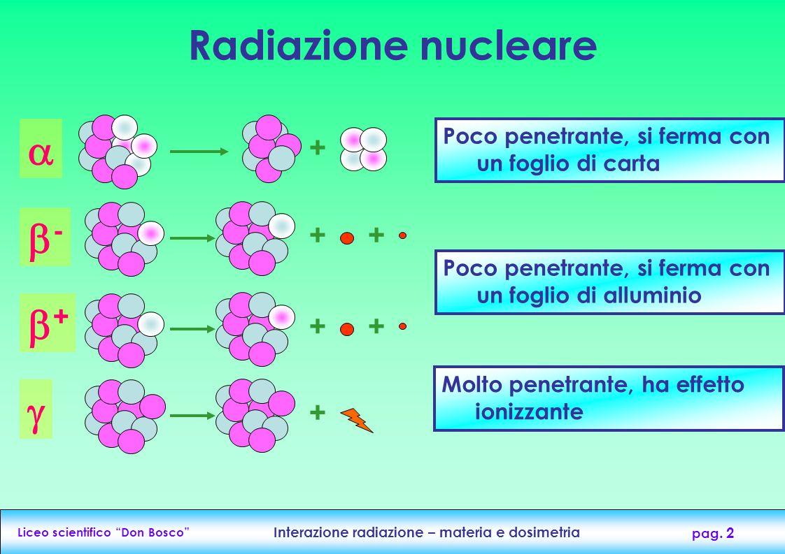  - +  Radiazione nucleare + + + + + +
