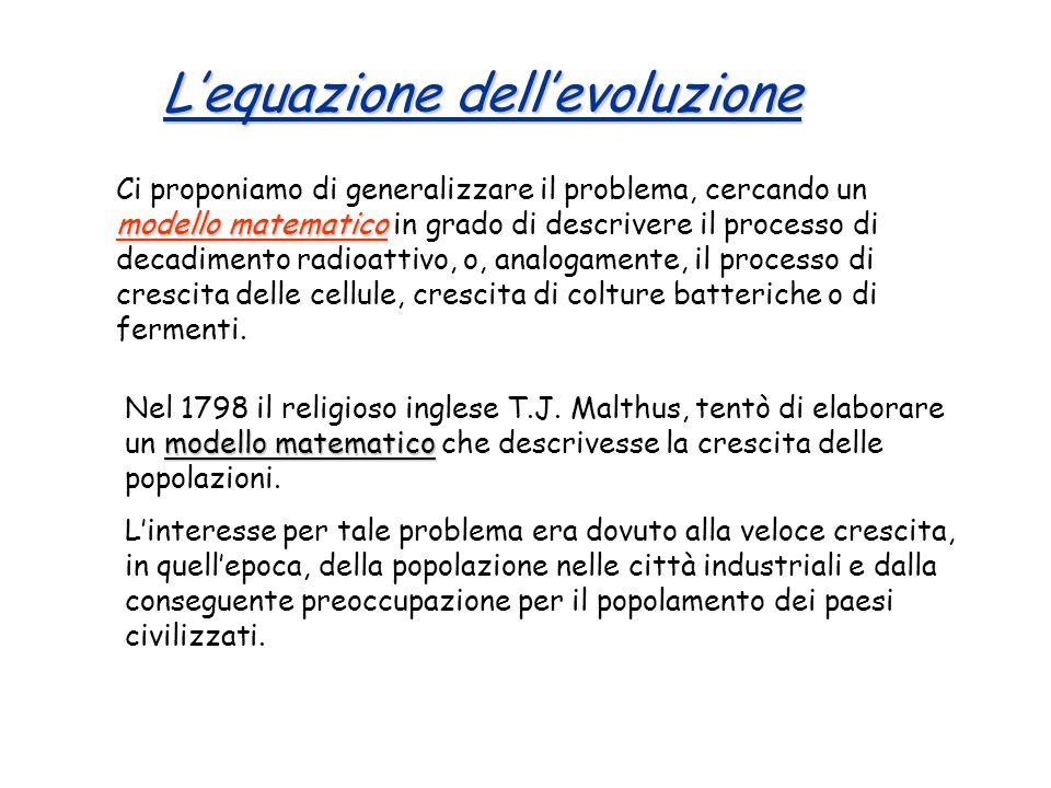 L'equazione dell'evoluzione
