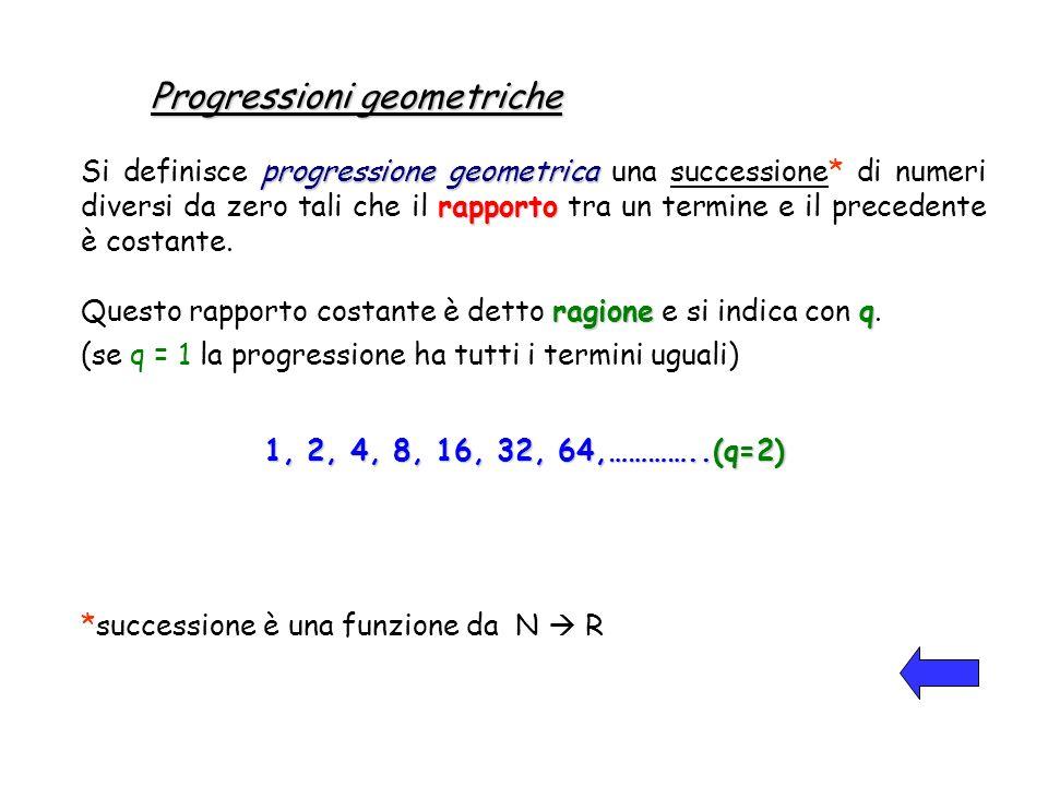 Progressioni geometriche