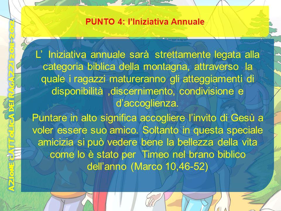 PUNTO 4: l'Iniziativa Annuale