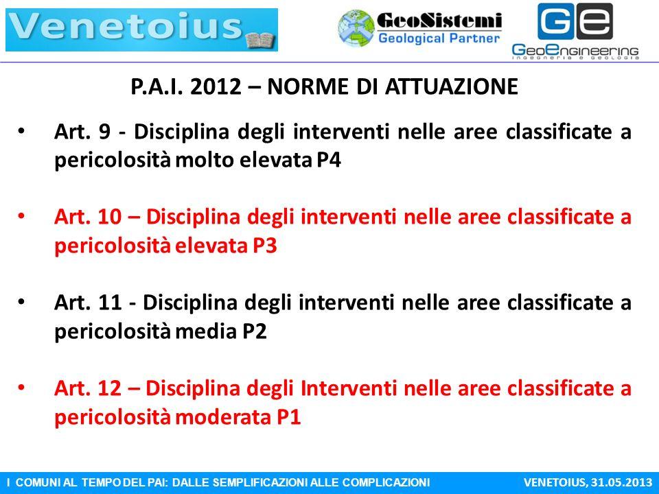 P.A.I. 2012 – NORME DI ATTUAZIONE