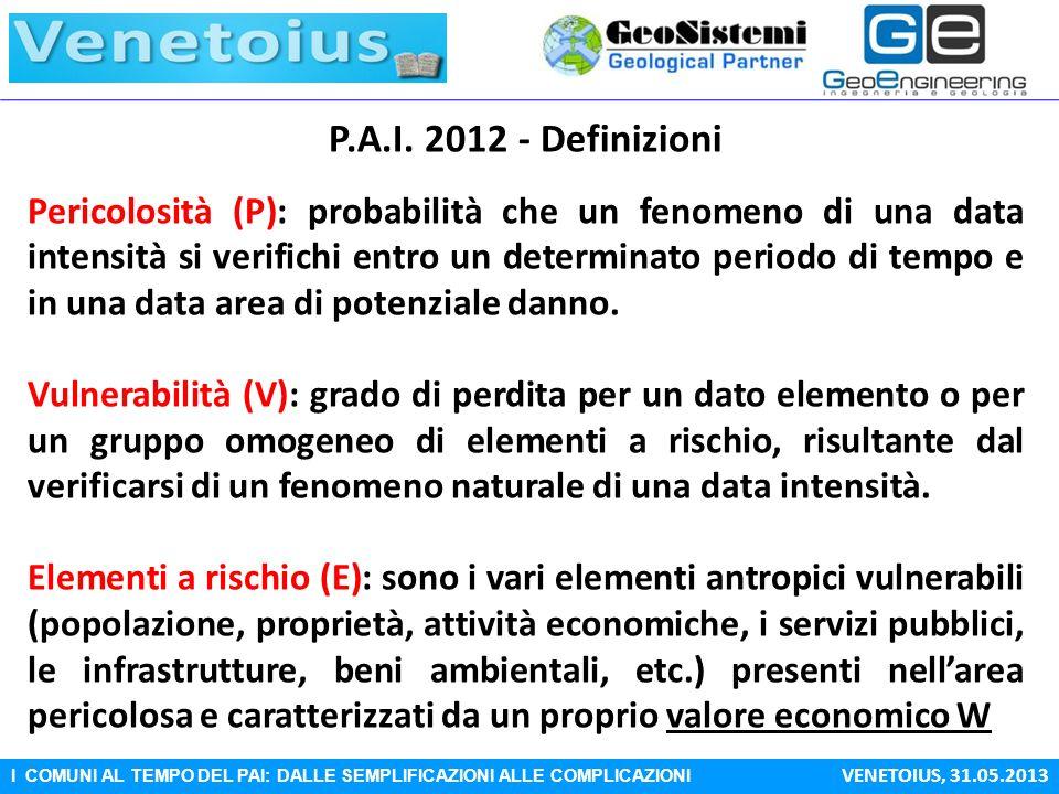 P.A.I. 2012 - Definizioni