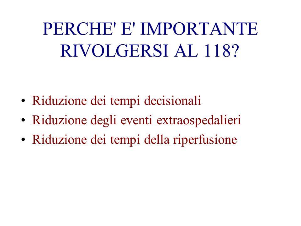 PERCHE E IMPORTANTE RIVOLGERSI AL 118